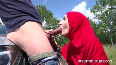 fucking in the woods muslim woman